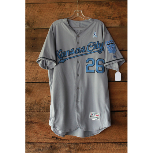 Photo of Mike Minor Game-Used Jersey (6/17-18/17 LAA at KC) (Size 48)