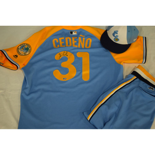 Photo of Autographed Turn Back the Clock Jersey, Hat and Pants: Xavier Cedeno