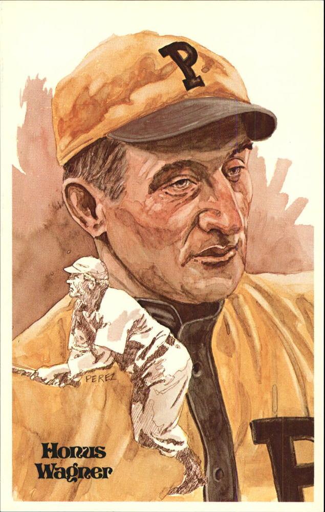 1980-02 Perez-Steele Hall of Fame Postcards #5 Honus Wagner -- Set #08689