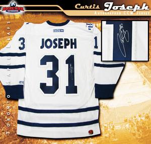 CURTIS JOSEPH Signed Toronto Maple Leafs White CCM Jersey
