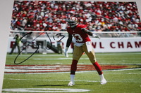 49ERS - STEVIE JOHNSON SIGNED 8X10 PHOTO