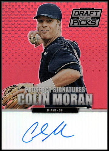 Photo of 2013 Panini Prizm Perennial Draft Picks Prospect Signatures Red Prizms #5 Colin Moran