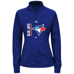 Toronto Blue Jays Women's Plus Size Icon 1/4 Zip Jacket by Majestic