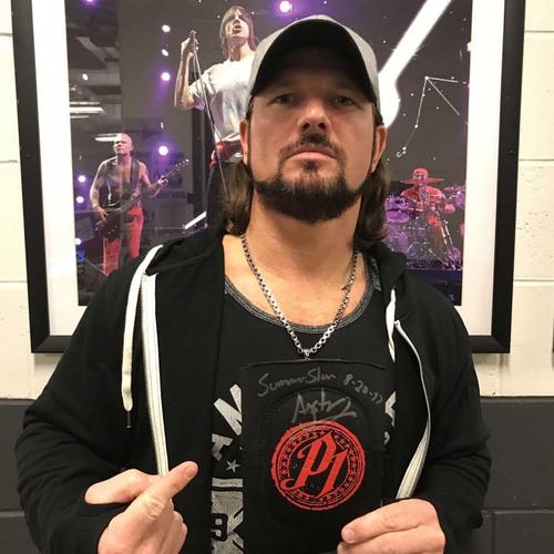 AJ Styles WORN & SIGNED Elbow Pad (SummerSlam - 08/20/17)