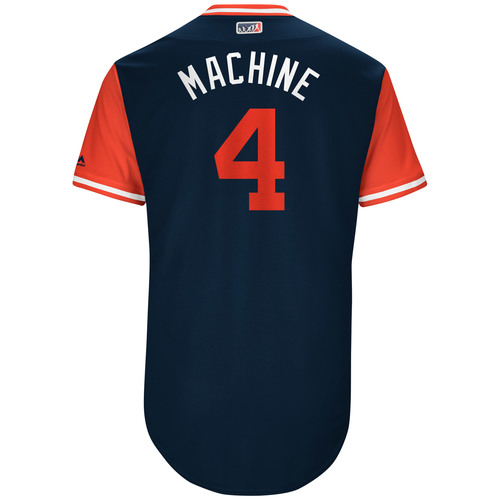 "Photo of Bradley ""Machine"" Zimmer Cleveland Indians Game-Used Players Weekend Jersey"