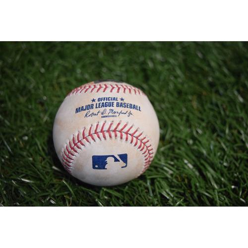 Photo of Game-Used Baseball: Jake Odorizzi strikes out Joe Mauer - 9/5/17