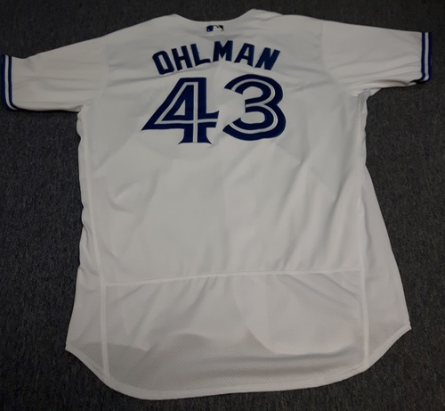 Photo of Authenticated Game Used Jersey - #43 Mike Ohlman (May 8, 2017). Size 48.