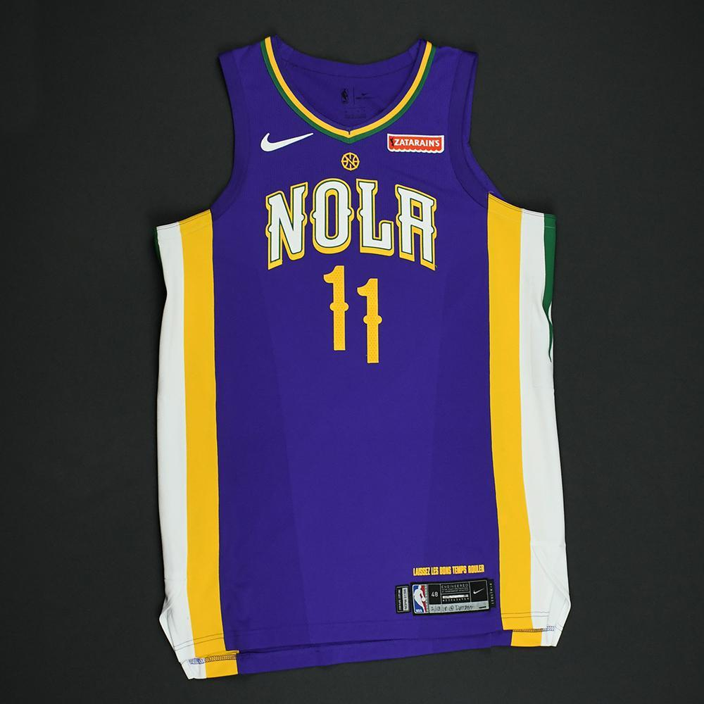 Jrue Holiday - New Orleans Pelicans - Game-Worn 'City' Jersey - 2017-18 Season - Double-Double