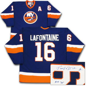 Pat LaFontaine Autographed New York Islanders Jersey