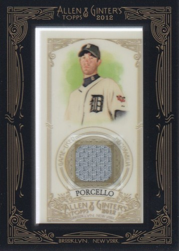 Photo of 2012 Topps Allen and Ginter Relics #RP Rick Porcello