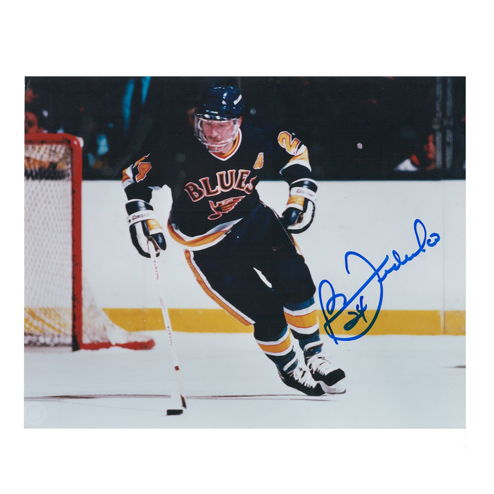 BERNIE FEDERKO Signed St. Louis Blues 8 X 10 Photo - 70081