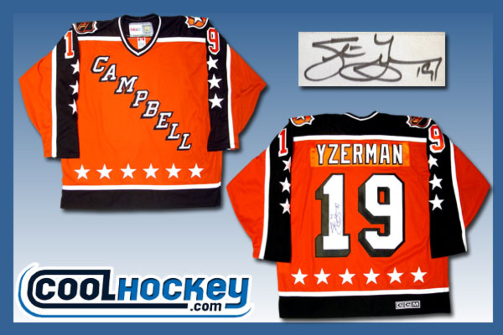 Steve Yzerman Autographed Campbell All Star Rookie year jersey.