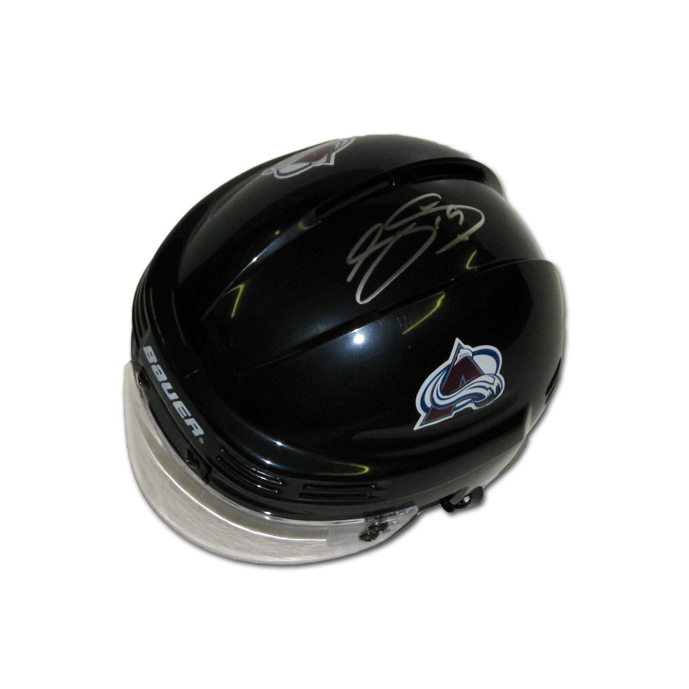 JOE SAKIC Signed Colorado Avalanche Black Mini Helmet