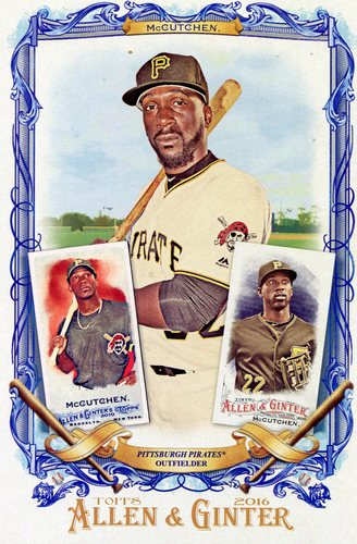 Photo of 2016 Topps Allen and Ginter Box Toppers #BLAM Andrew McCutchen
