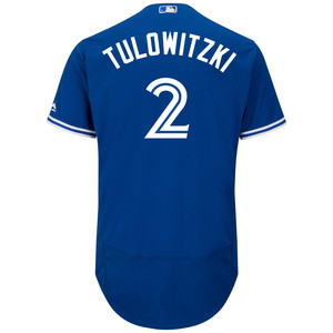 Toronto Blue Jays Men's Authentic Flex Base Troy Tulowitzki Alternate Jersey by Majestic