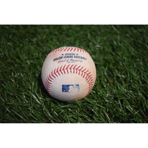 Photo of Game-Used Baseball: Evan Longoria double off Ryan Pressly - 9/6/17