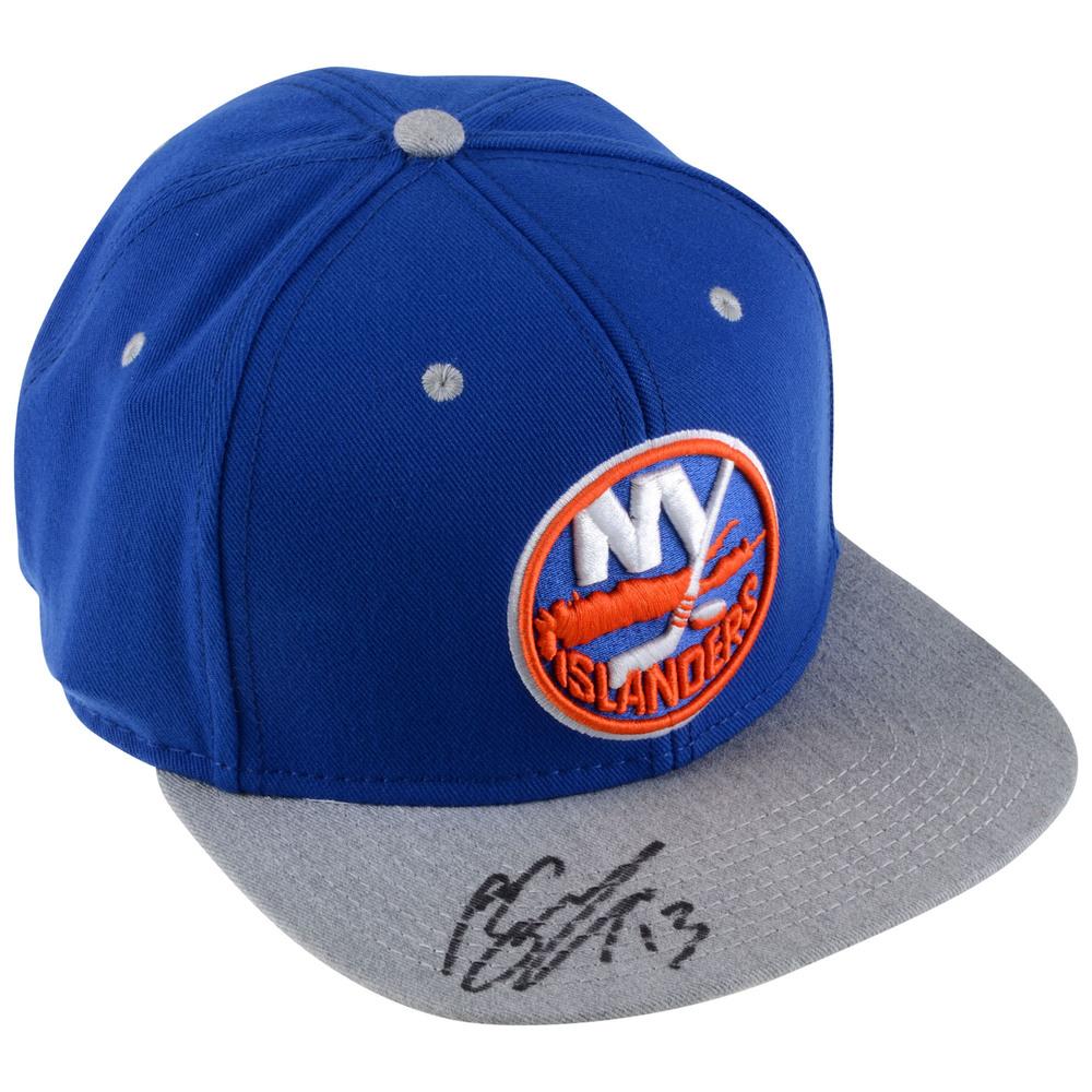 Mathew Barzal New York Islanders Autographed Fanatics Cap - #13 of a L.E. of 13