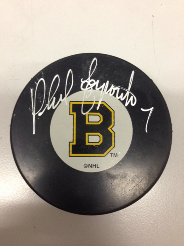 PHIL ESPOSITO Signed Boston Bruins Puck *Signature is Smudged
