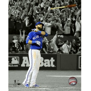 Jose Bautista Spotlight Bat Toss Moment 8x10 Photo by Photo File