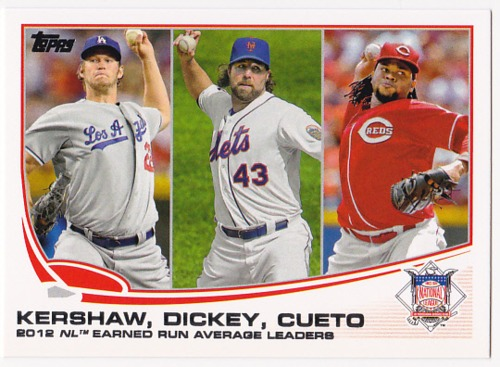 Photo of 2013 Topps #81 Clayton Kershaw/Johnny Cueto/R.A. Dickey