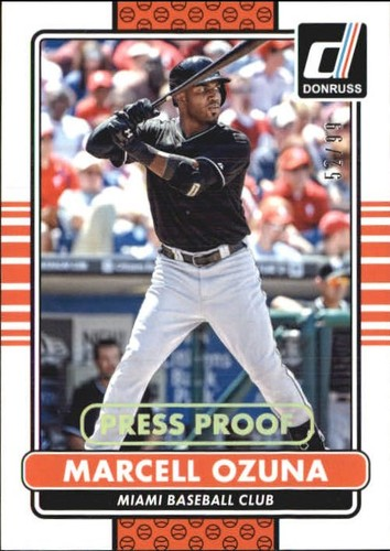 Photo of 2015 Donruss Press Proofs Gold #111 Marcell Ozuna