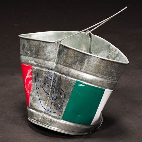 Alberto Del Rio SIGNED Bucket used on RAW to attack Ricardo Rodriguez