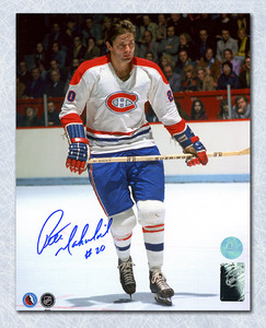 Peter Mahovlich Montreal Canadiens Autographed Home At Forum 8x10 Photo