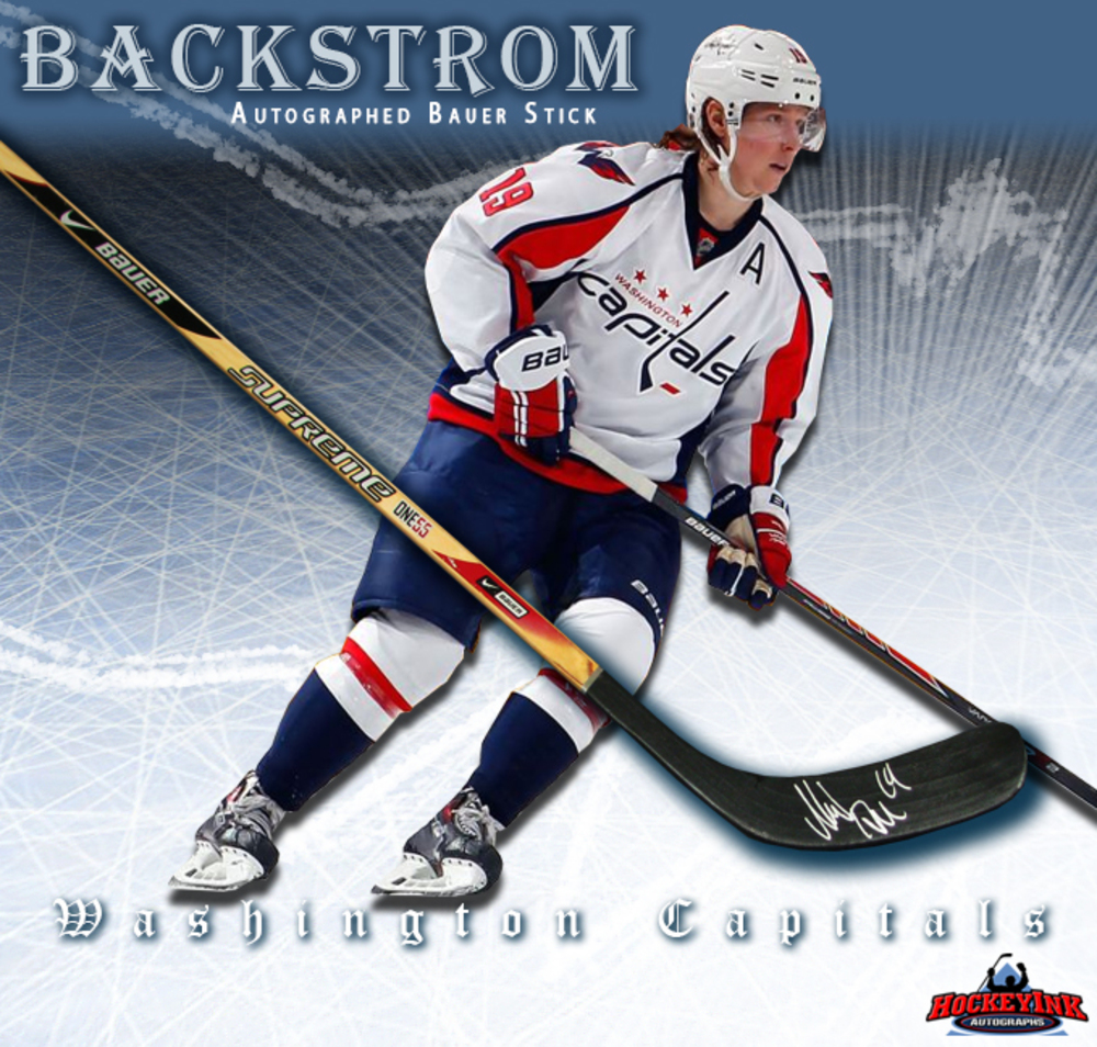 NICKLAS BACKSTROM Signed Bauer Stick - Washington Capitals