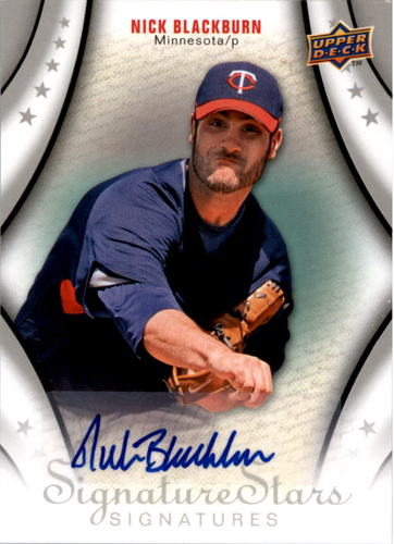 Photo of 2009 Upper Deck Signature Stars #124 Nick Blackburn AU