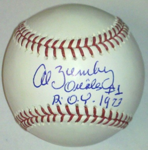 "Photo of Al Bumbry ""ROY 1973"" Autographed Baseball"