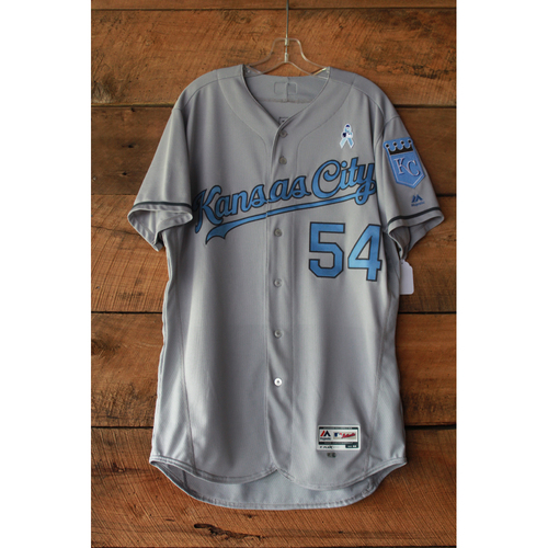 Photo of Scott Alexander Game-Used Jersey (6/17-18/17 LAA at KC) (Size 44)