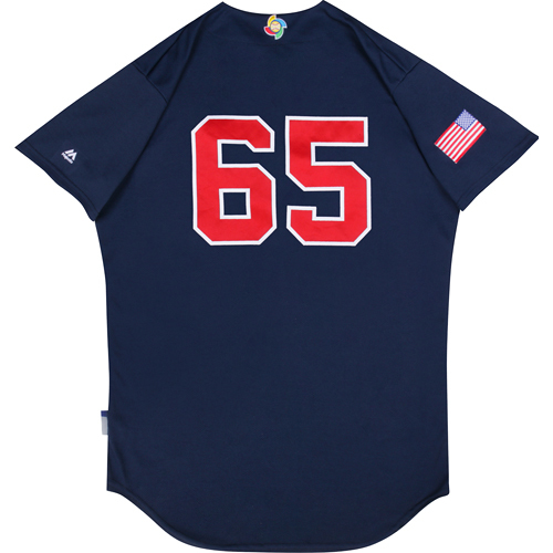 Photo of 2017 WBC: USA Game-Used Batting Practice Jersey, Nate Jones #65