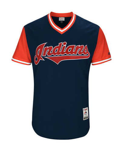 "Photo of Erik ""La Parita"" Gonzalez Cleveland Indians Game-Used Players Weekend Jersey"