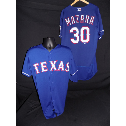 Photo of Nomar Mazara Game-Used Blue Jersey - Size 48