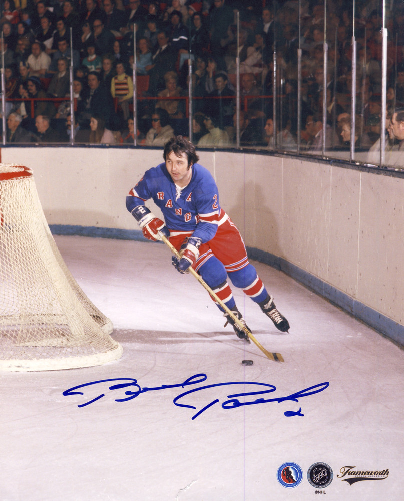 BRAD PARK New York Rangers Action SIGNED 8x10 Photo *Small Tear in Photo*