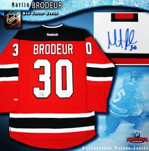 MARTIN BRODEUR Signed New Jersey Devils Red Reebok Jersey