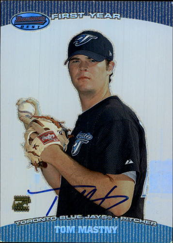 Photo of 2004 Bowman's Best #TRM Tom Mastny FY AU RC
