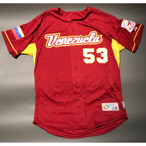 Photo of 2009 World Baseball Classic Jersey - Venezuela Road Jersey, Abreu, B #53