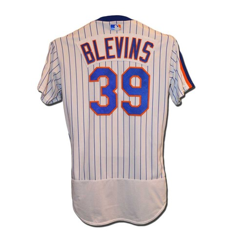 Photo of Jerry Blevins #39 - Game Used 1986 Throwback Jersey - 1 IP, 1 Strikeout - Mets vs. Giants - 5/1/16
