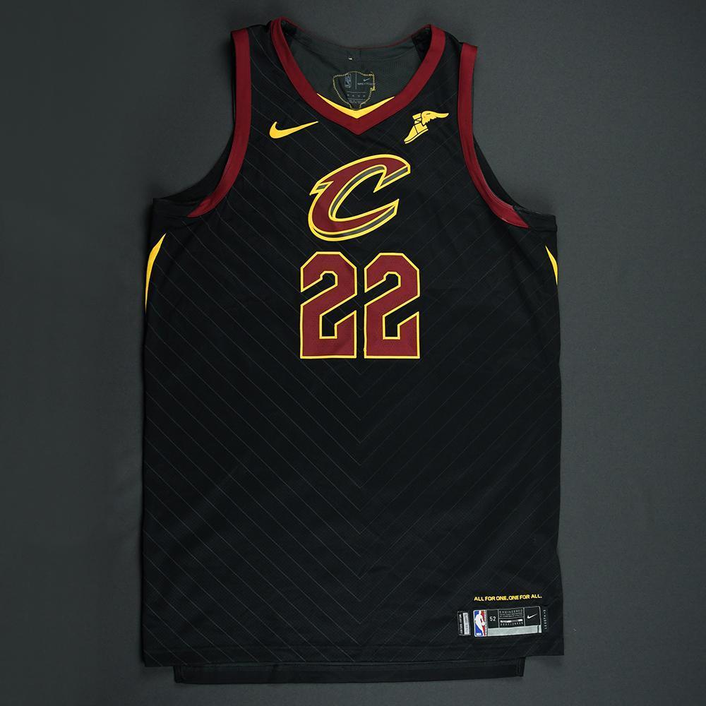Larry Nance Jr. - Cleveland Cavaliers - 2018 NBA Finals - Game 1 - Game-Worn Black 'Statement' Jersey