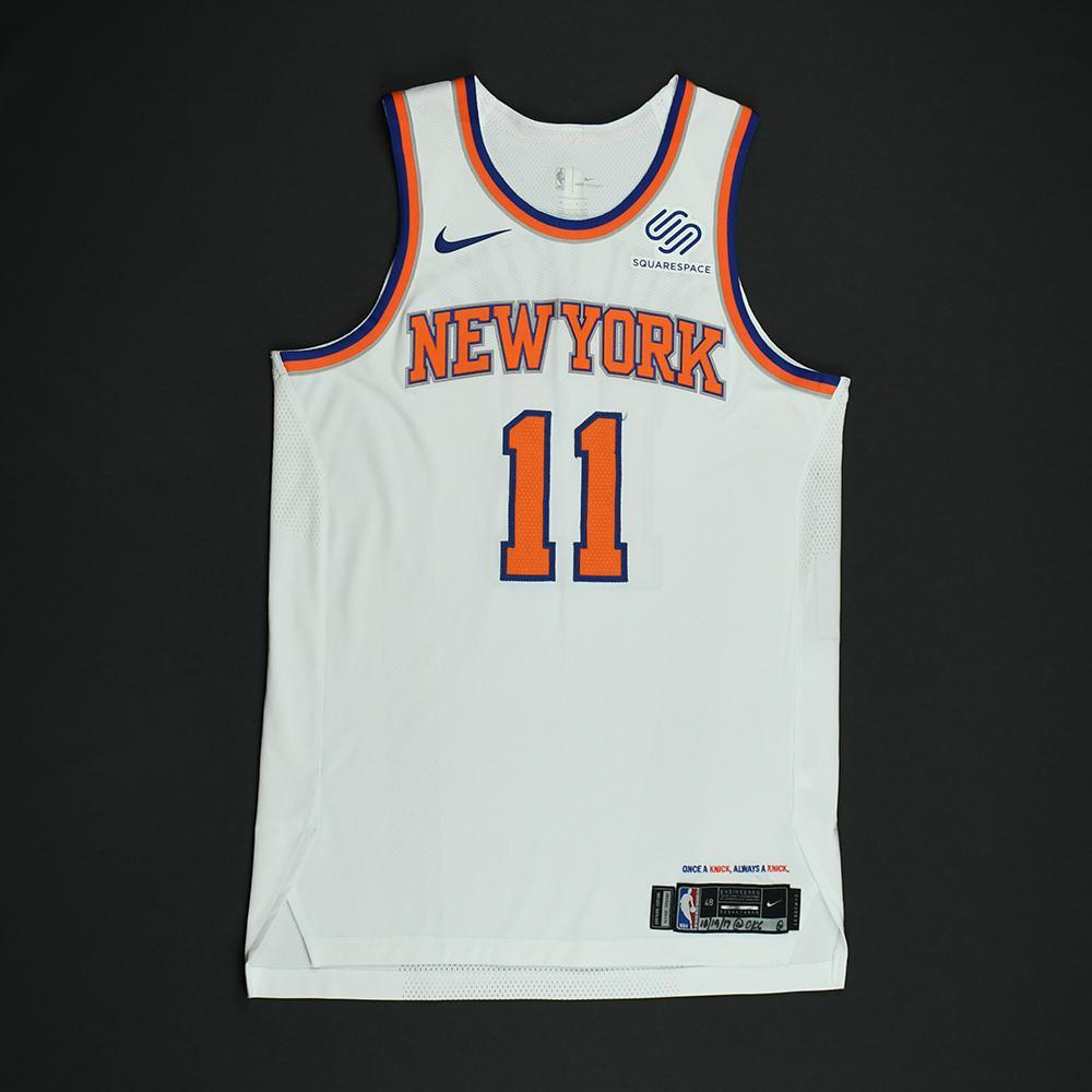 Frank Ntilikina - New York Knicks - Game-Worn Rookie Debut Jersey (Opening Night) - 2017-18 Season