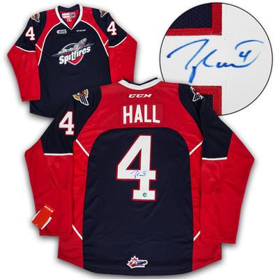 Taylor Hall Windsor Spitfires Autographed CHL CCM Premier Hockey Jersey