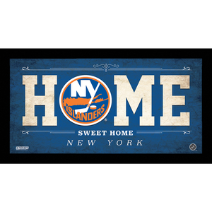 New York Islanders 6x12 Home Sweet Home Sign