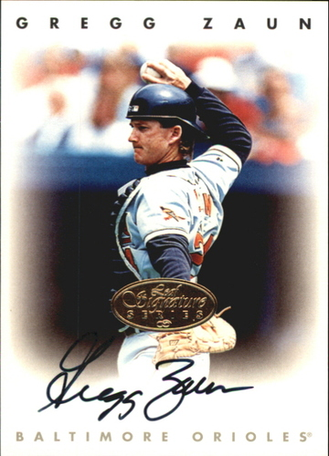 Photo of 1996 Leaf Signature Autographs Gold #252 Greg Zaun