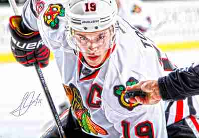 Jonathan Toews - Signed 24x35