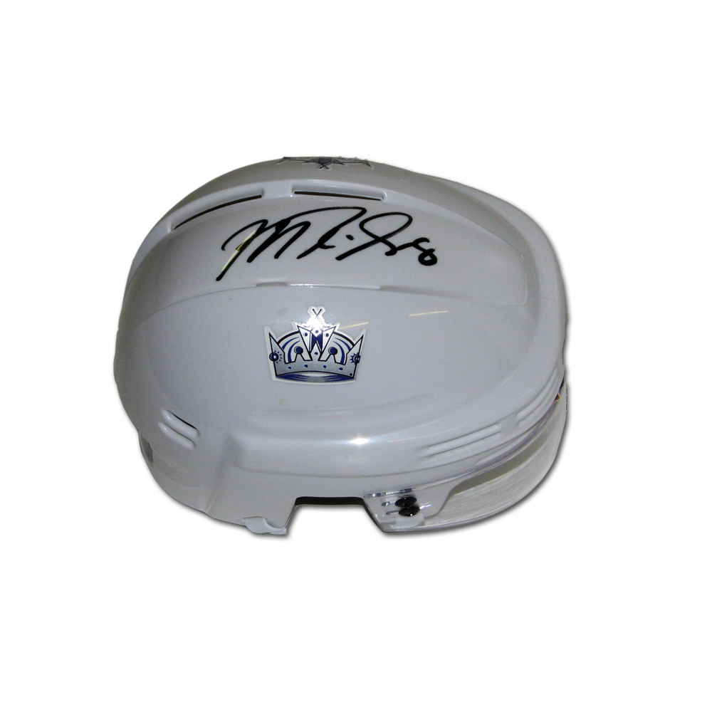 MIKE RICHARDS Signed Los Angeles Kings White Mini Helmet