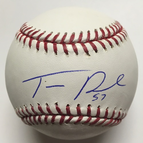 Tanner Roark Autographed Baseball