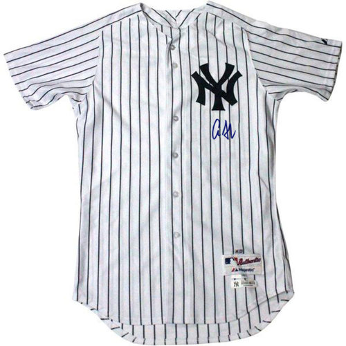 Photo of Aaron Judge Autographed Authentic New York Yankees Pinstripe Jersey