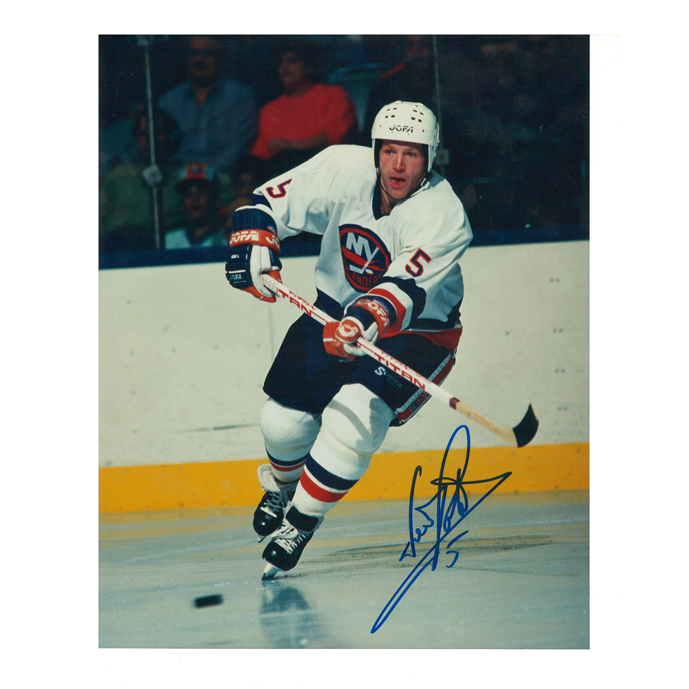 DENIS POTVIN Signed New York Islanders 8 X 10 Photo - 70088