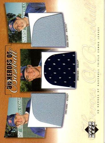 Photo of 2001 Upper Deck Prospect Premieres Chris Burke Bryan Bass Bubba Crosby RC Jersey